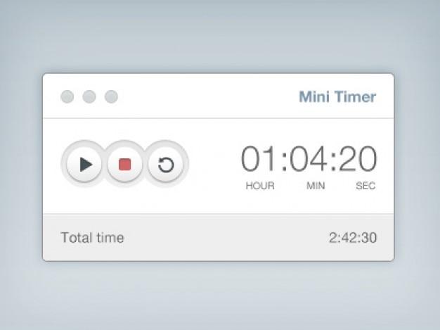Eenvoudige timer met knoppen