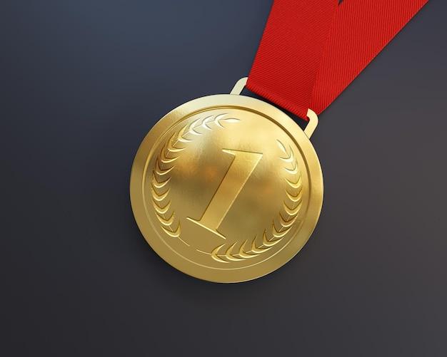 Eerste plaats gouden medaille mockup