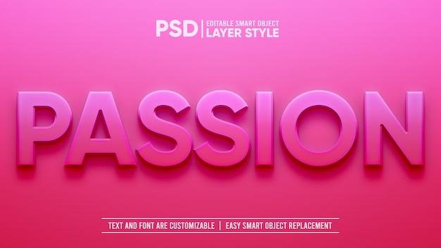 Efecto de capa de objeto inteligente pink lovely passion romance