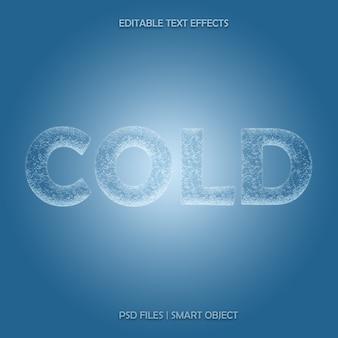 Efecto de capa de texto 3d de hielo frío