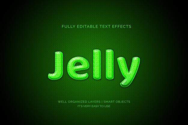Efecto de capa de texto de gelatina