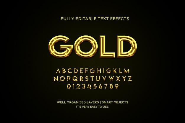 Efecto de capa de texto de oro de lujo