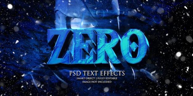 Efecto cero texto