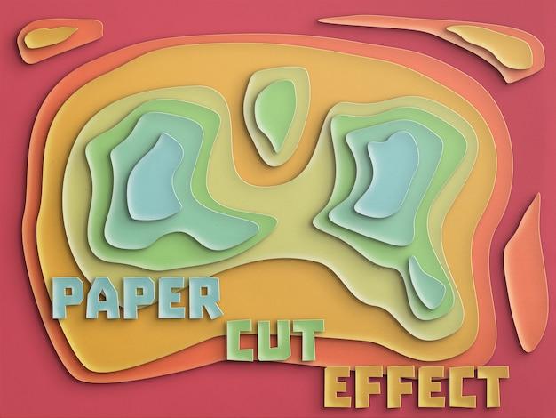 Efecto de corte de papel totalmente personalizable.