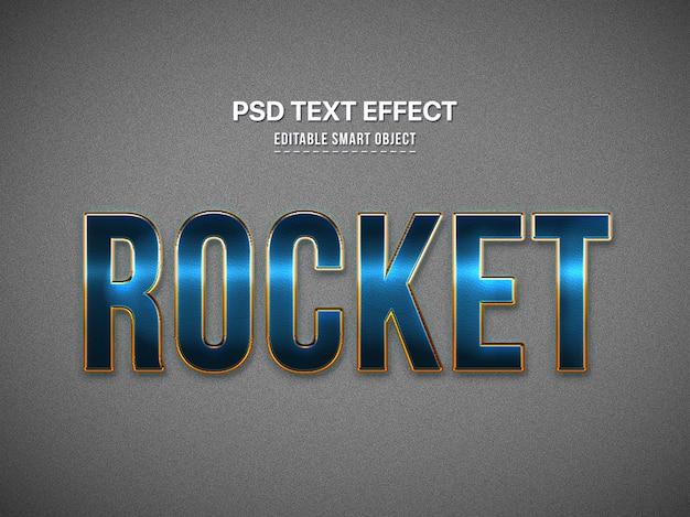 Efecto de estilo de texto 3d azul