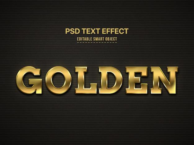 Efecto de estilo de texto 3d dorado