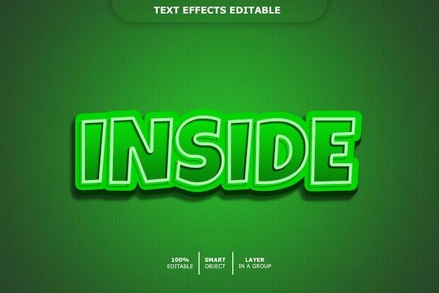 Efecto de estilo de texto 3d interior
