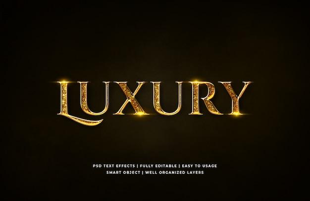 Efecto de estilo de texto 3d de lujo dorado