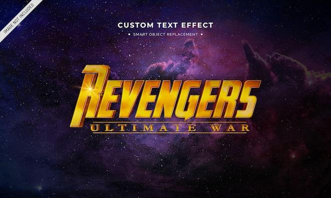 Efecto de estilo de texto 3d de película de superhéroe