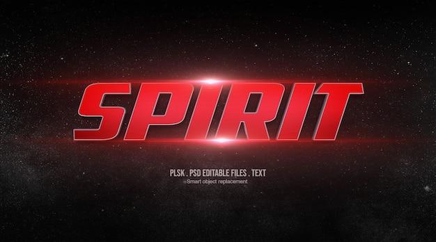 Efecto de estilo de texto 3d spirit