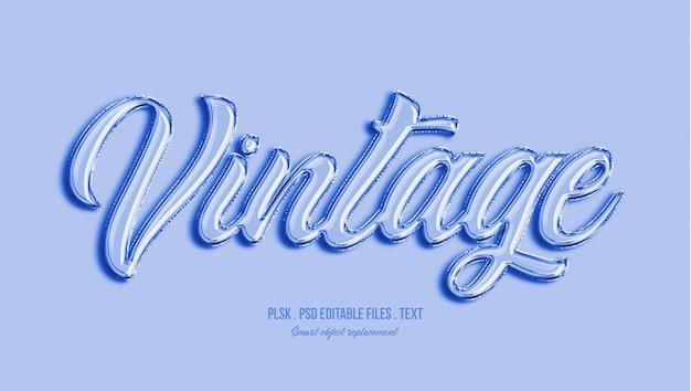 Efecto de estilo de texto 3d vintage