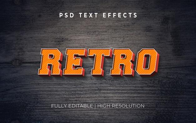 Efecto de estilo de texto 3d