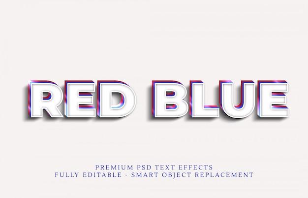 Efecto de estilo de texto azul psd, efectos de texto premium psd