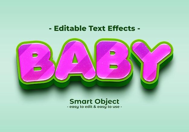 Efecto de estilo de texto de bebé
