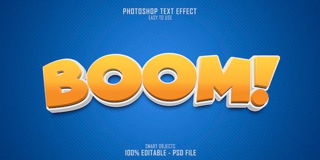 Efecto de estilo de texto boom 3d