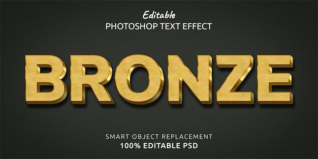 Efecto de estilo de texto de bronce