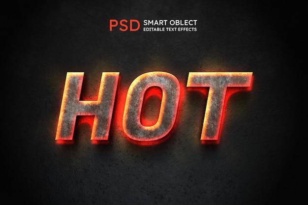 Efecto de estilo de texto caliente PSD Premium