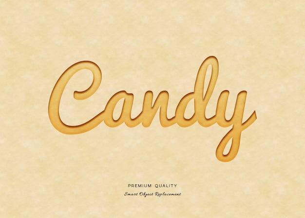 Efecto de estilo de texto de caramelo