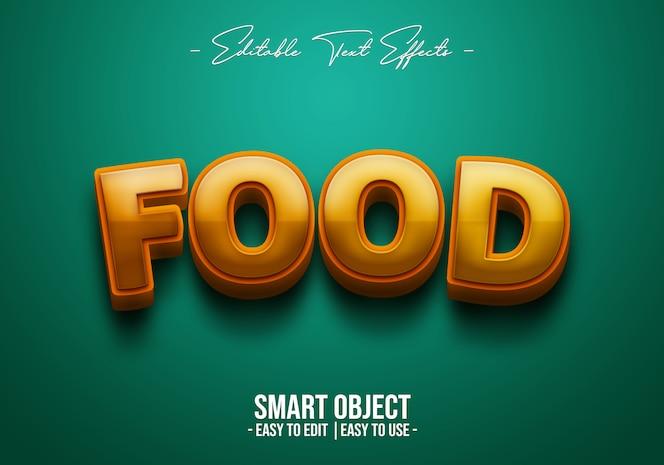 Efecto de estilo de texto de comida 3d