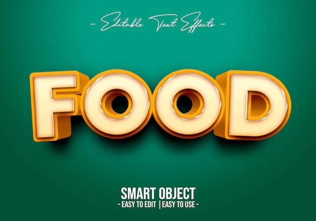 Efecto de estilo de texto de comida