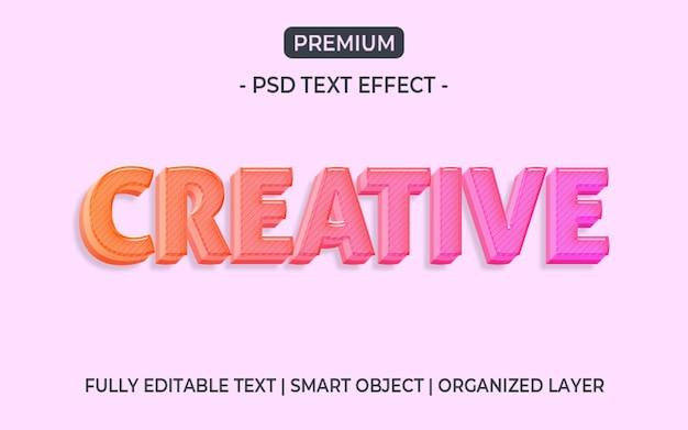 Efecto de estilo de texto degradado colorido 3d