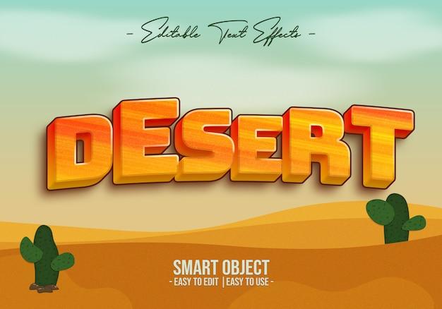 Efecto de estilo de texto del desierto