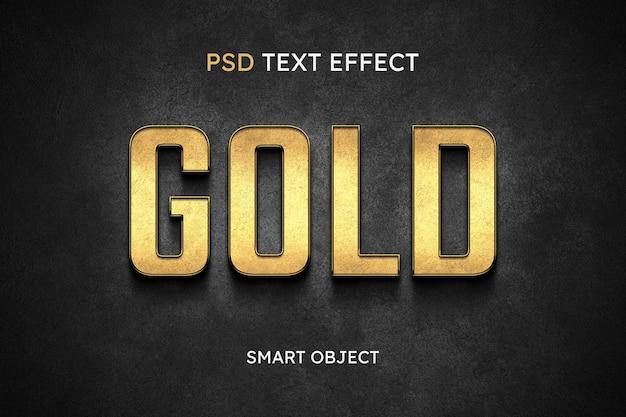 Efecto de estilo de texto dorado
