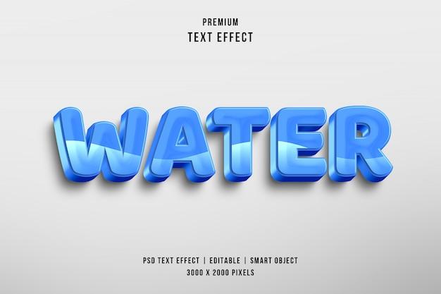 Efecto de estilo de texto editable de agua 3d