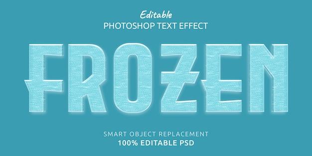 Efecto de estilo de texto editable congelado