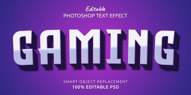 Efecto de estilo de texto editable para juegos