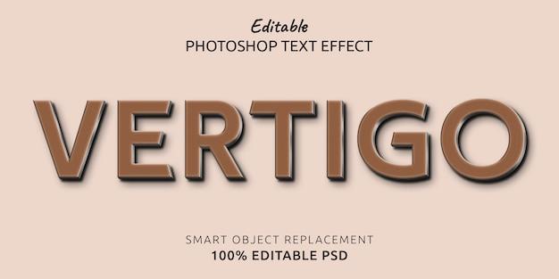 Efecto de estilo de texto editable de vértigo