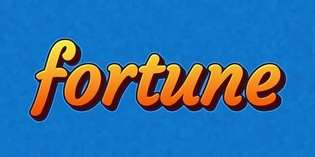 Efecto de estilo de texto de fortuna