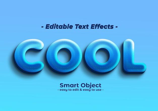 Efecto de estilo de texto fresco