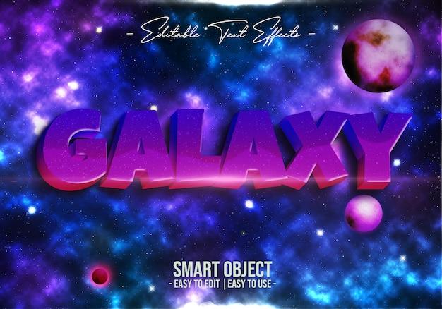 Efecto de estilo de texto de galaxia