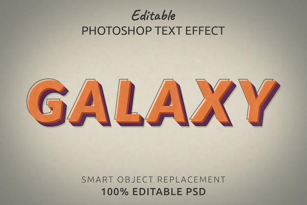 Efecto de estilo de texto galaxy