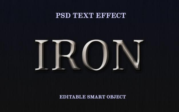 Efecto de estilo de texto de hierro