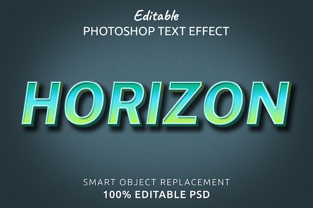 Efecto de estilo de texto de horizonte