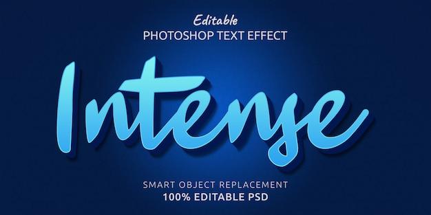 Efecto de estilo de texto intenso