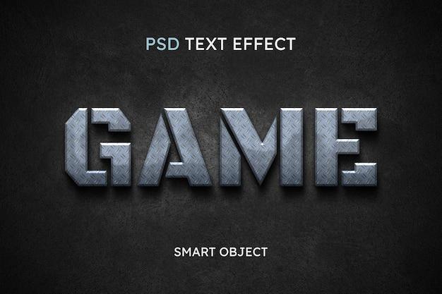 Efecto de estilo de texto del juego