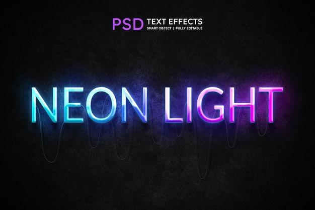 Efecto de estilo de texto de luz de neón