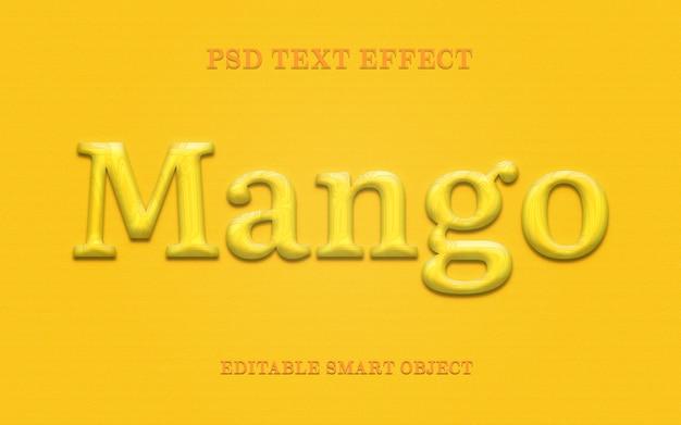 Efecto de estilo de texto de mango