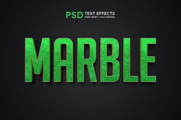 Efecto de estilo de texto de mármol
