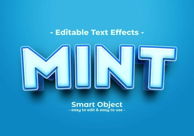 Efecto de estilo de texto de menta