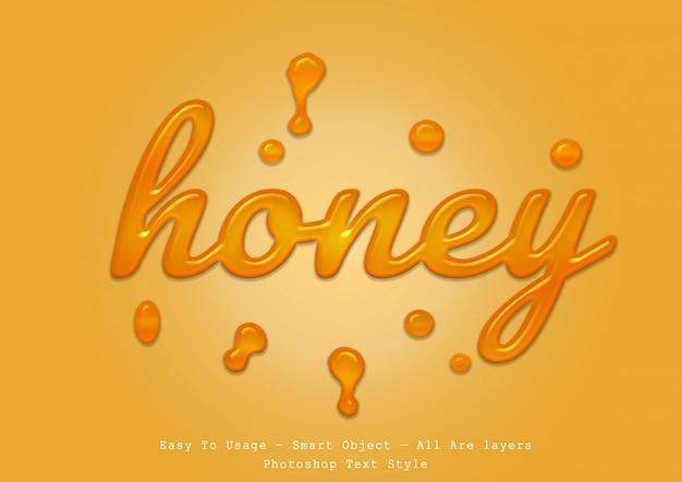 Efecto de estilo de texto de miel