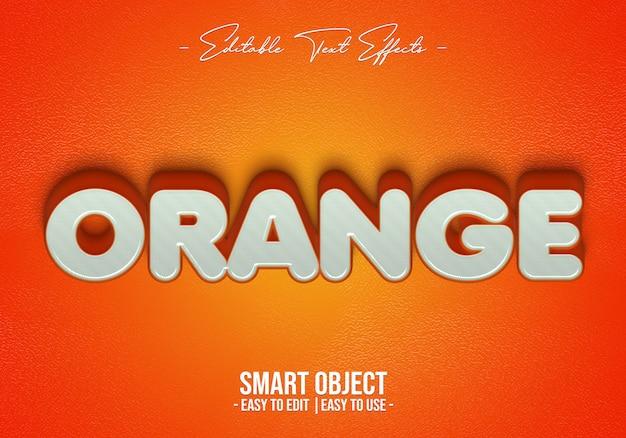 Efecto de estilo de texto naranja