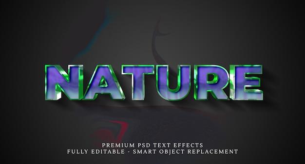 Efecto de estilo de texto de naturaleza psd