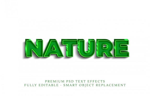 Efecto de estilo de texto de naturaleza verde