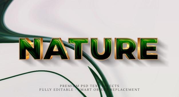 Efecto de estilo de texto de naturaleza