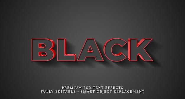 Efecto de estilo de texto negro, efectos de texto premium