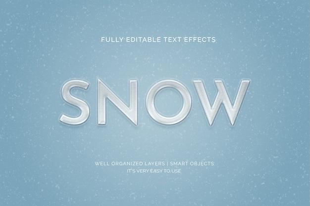 Efecto de estilo de texto de nieve